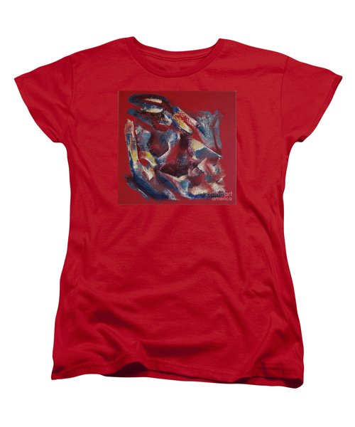 Women's T-Shirt (Standard Cut) featuring the painting Syncopation by Mini Arora