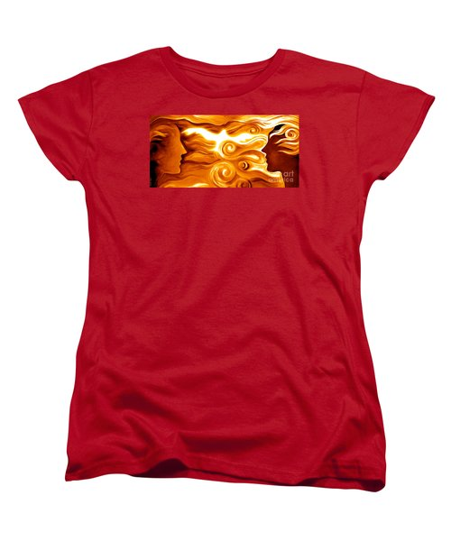 Synergy In Love Women's T-Shirt (Standard Cut) by Gem S Visionary