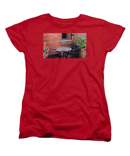 Women's T-Shirt (Standard Cut) featuring the photograph Table For Two by Cynthia Guinn