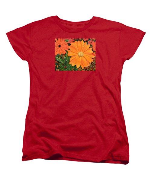 Tangerine Punch Women's T-Shirt (Standard Cut) by Donna  Manaraze