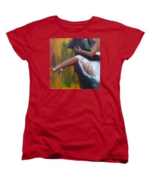 Women's T-Shirt (Standard Cut) featuring the painting Tango On The Piazza by Keith Thue