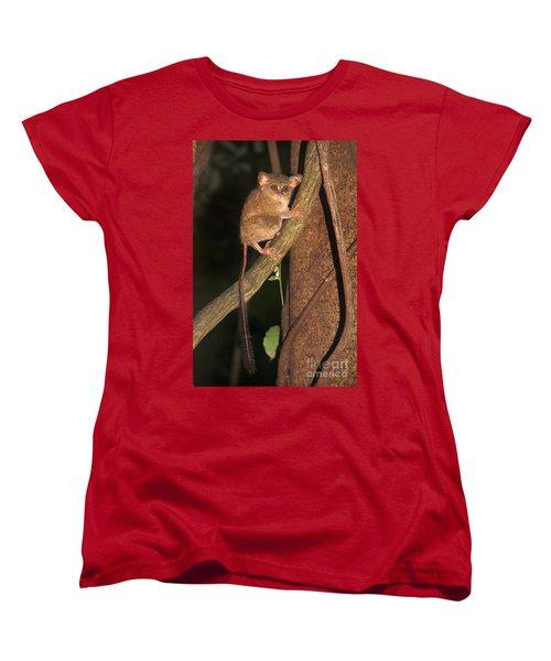 Tarsius Tarsier  Women's T-Shirt (Standard Cut) by Sergey Lukashin
