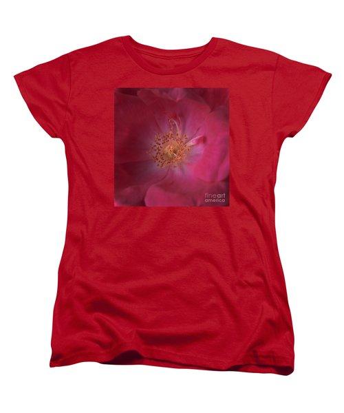 Women's T-Shirt (Standard Cut) featuring the photograph Tea Rose by Debra Fedchin