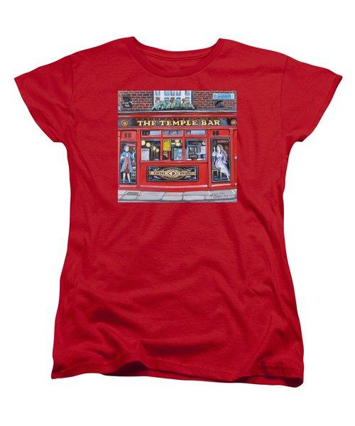Temple Bar Dublin Ireland Women's T-Shirt (Standard Cut) by Melinda Saminski