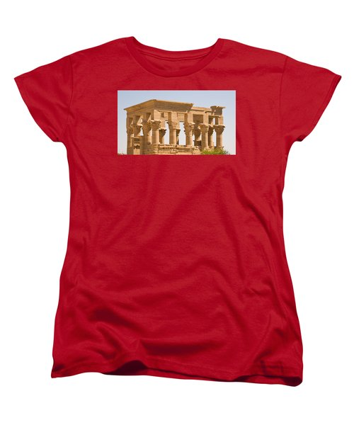 Temple Out Building Women's T-Shirt (Standard Cut) by James Gay