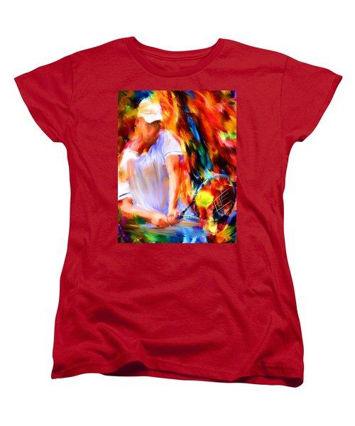 Tennis II Women's T-Shirt (Standard Cut) by Lourry Legarde
