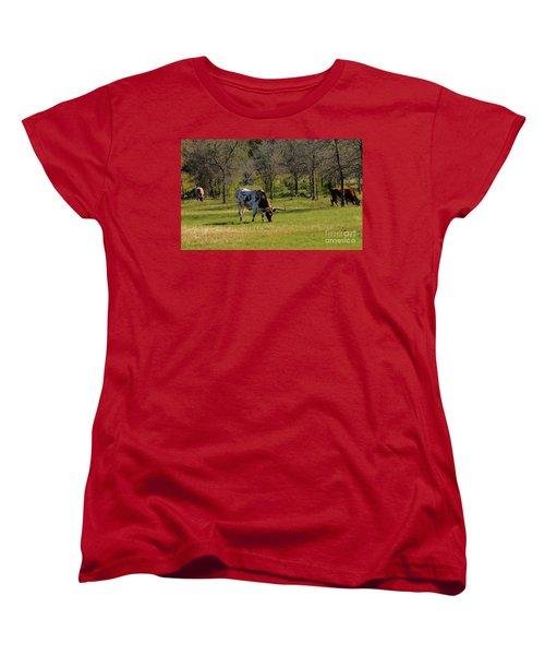 Texas Longhorns Women's T-Shirt (Standard Cut) by Janette Boyd
