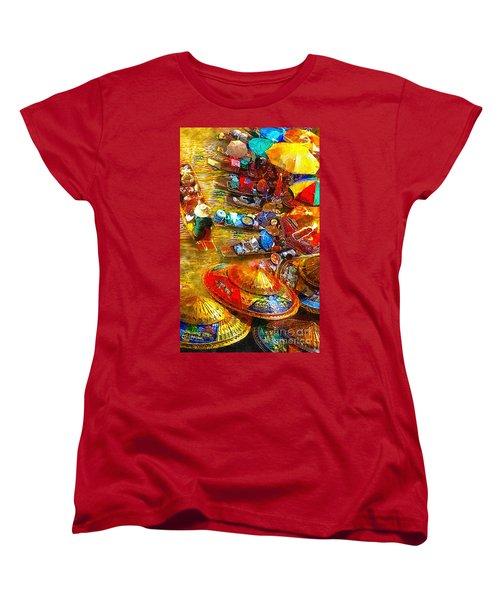 Thai Market Day Women's T-Shirt (Standard Cut) by Mo T