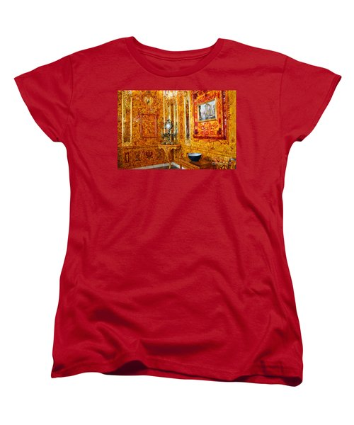 The Amber Room At Catherine Palace Women's T-Shirt (Standard Cut)