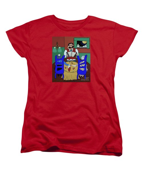 Women's T-Shirt (Standard Cut) featuring the painting The Anniversary by Barbara McMahon