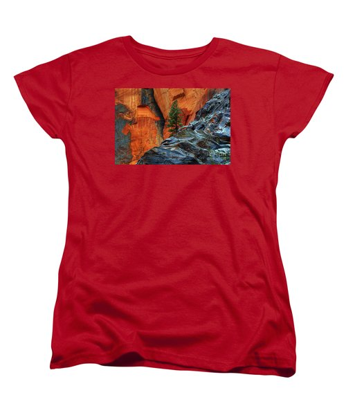The Beauty Of Sandstone Zion Women's T-Shirt (Standard Cut) by Bob Christopher