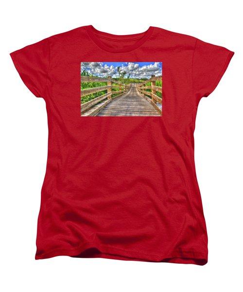 The Boardwalk Women's T-Shirt (Standard Cut) by Paul Wear