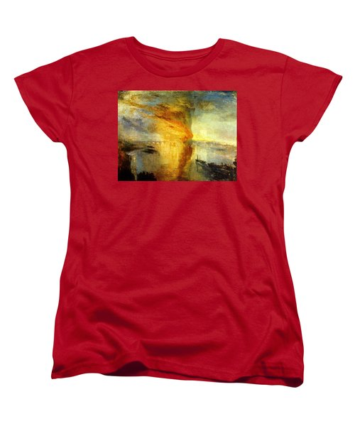 The Burning Of The Houses Of Lords And Commons Women's T-Shirt (Standard Cut) by Celestial Images