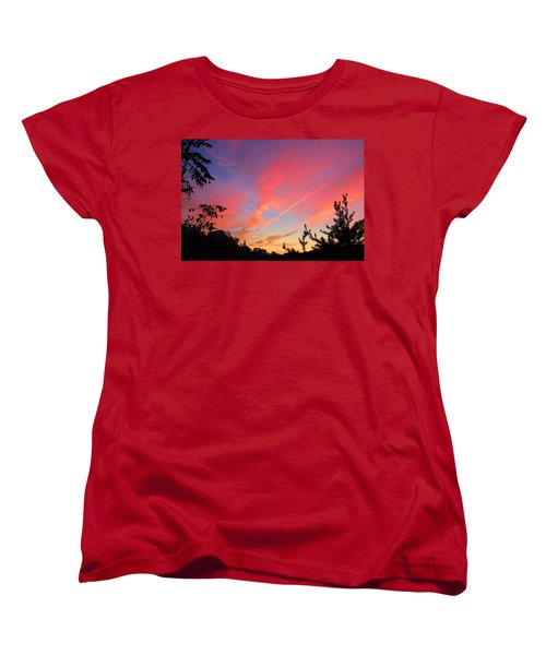 Women's T-Shirt (Standard Cut) featuring the photograph The Color Gets Good by Kathryn Meyer