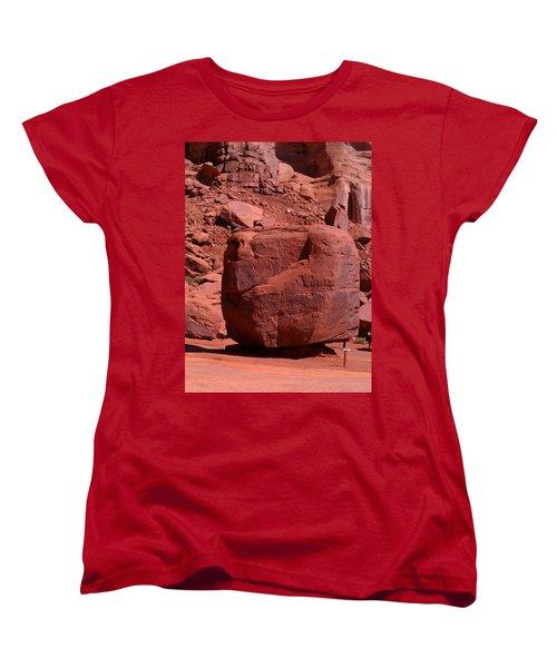 Women's T-Shirt (Standard Cut) featuring the photograph The Cube by Fortunate Findings Shirley Dickerson