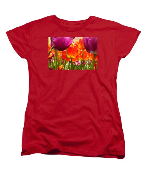 The Drooping Tulip Women's T-Shirt (Standard Cut) by Catie Canetti