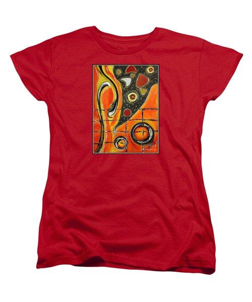 The Fires Of Charged Emotions Women's T-Shirt (Standard Cut) by Jolanta Anna Karolska