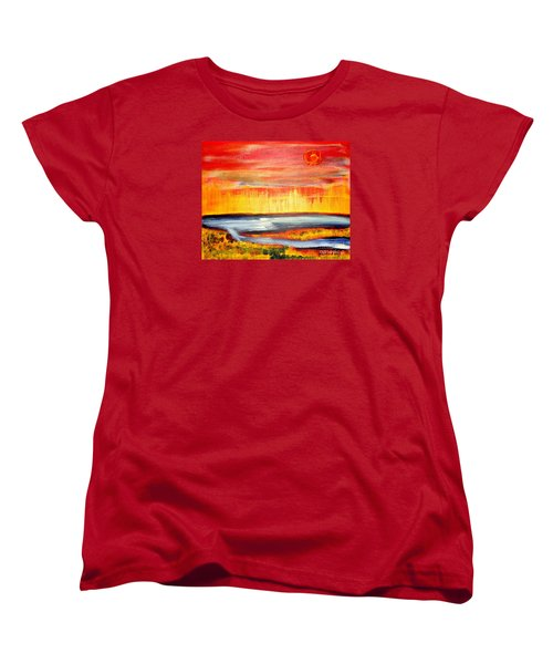 The First Handcart Is Faith Women's T-Shirt (Standard Cut) by Richard W Linford