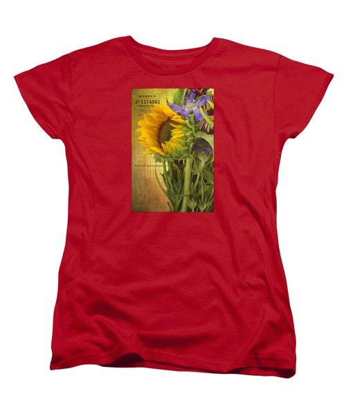 Women's T-Shirt (Standard Cut) featuring the photograph The Flower Market by Priscilla Burgers