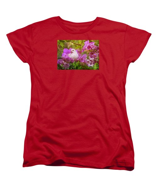 The Garden Of White Dove Women's T-Shirt (Standard Cut) by Olga Hamilton