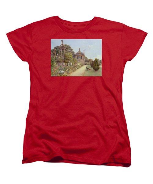 The Gardens At Montacute In Somerset Women's T-Shirt (Standard Cut) by Ernest Arthur Rowe