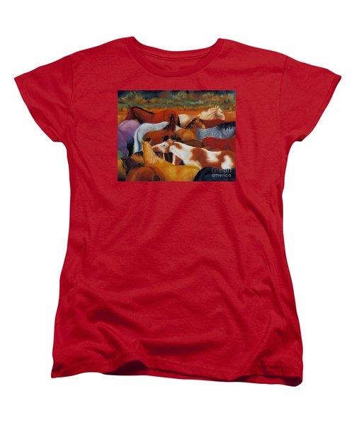 The Gathering Women's T-Shirt (Standard Cut) by Frances Marino