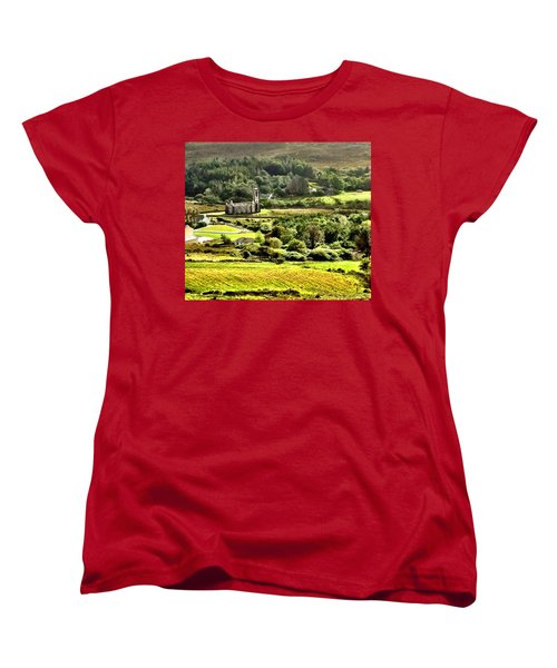 Women's T-Shirt (Standard Cut) featuring the photograph The Green Valley Of Poisoned Glen by Charlie and Norma Brock