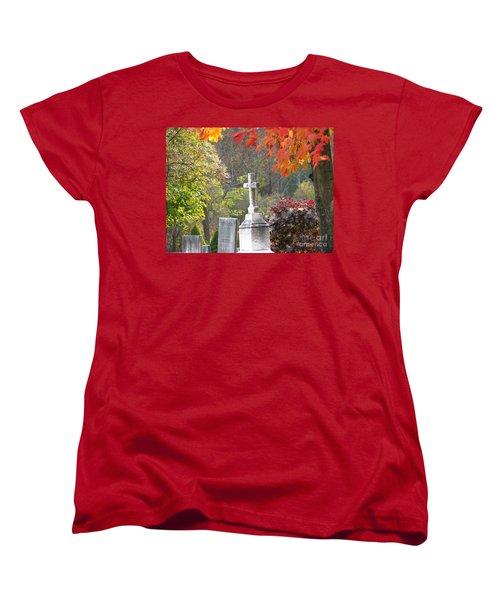 The Holy Cross Women's T-Shirt (Standard Cut) by Michael Krek