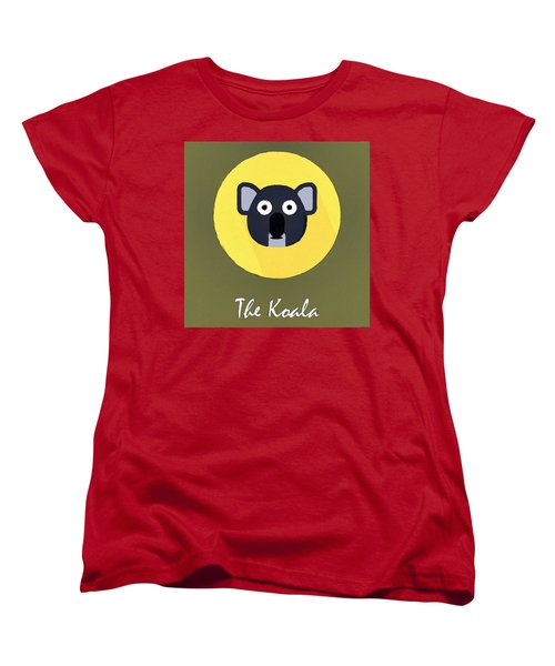 The Koala Cute Portrait Women's T-Shirt (Standard Cut) by Florian Rodarte