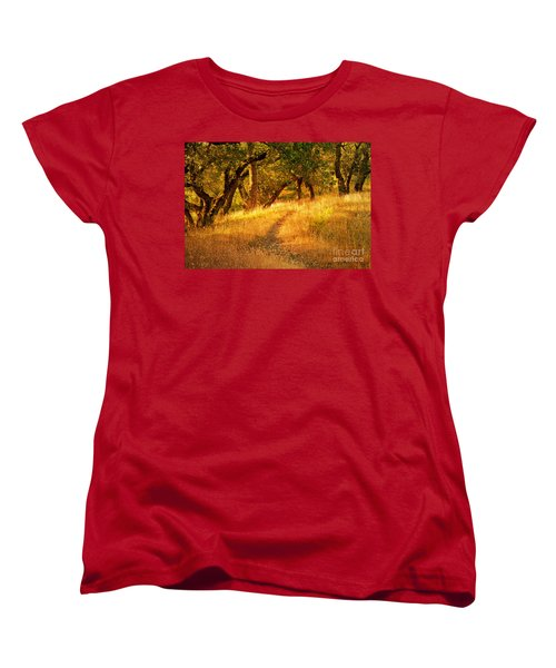 The Late Afternoon Walk Women's T-Shirt (Standard Cut) by Roselynne Broussard