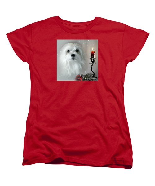 Women's T-Shirt (Standard Cut) featuring the mixed media The Light In My Life by Morag Bates