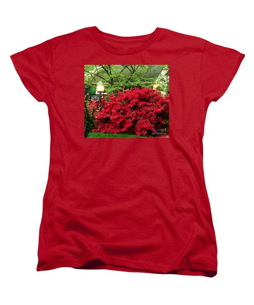 Women's T-Shirt (Standard Cut) featuring the photograph The Light Red Bush Bella by Becky Lupe
