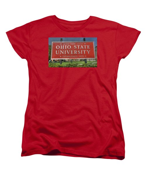 The Ohio State University Women's T-Shirt (Standard Cut) by David Bearden