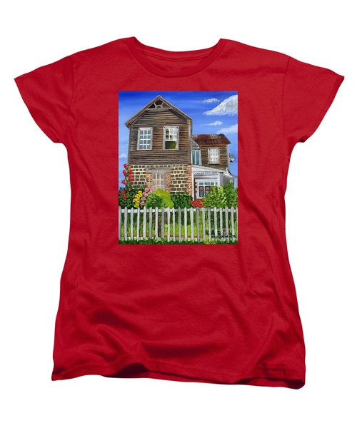 Women's T-Shirt (Standard Cut) featuring the painting The Old House by Laura Forde