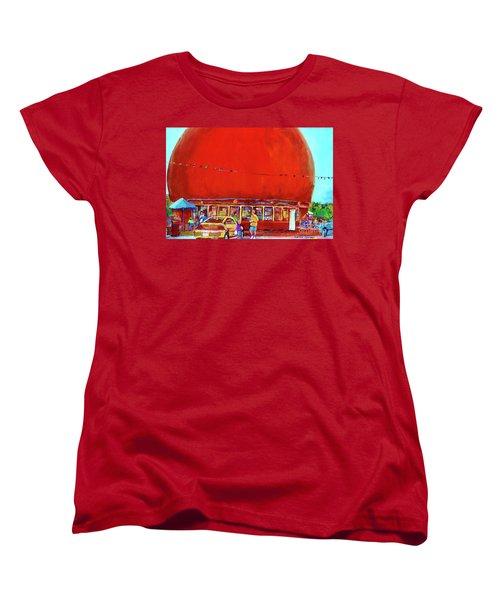 The Orange Julep Montreal Summer City Scene Women's T-Shirt (Standard Cut) by Carole Spandau