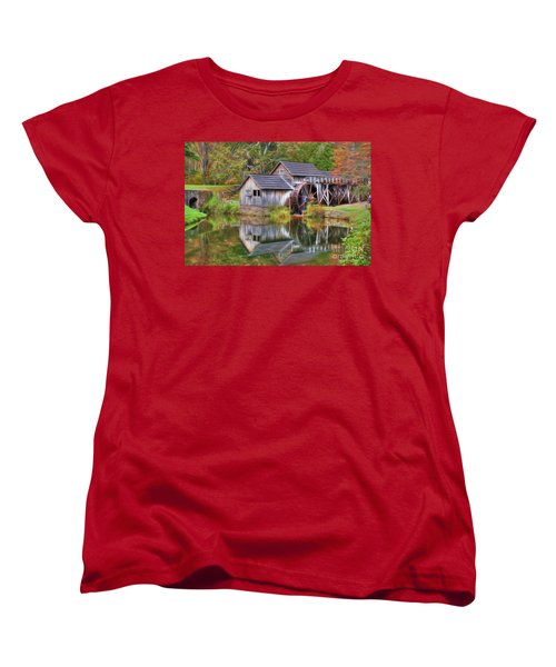The Painted Mill Women's T-Shirt (Standard Cut) by Dan Stone