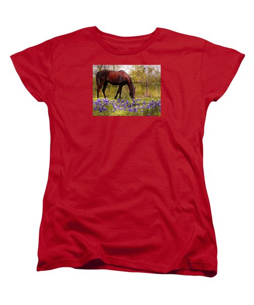 Women's T-Shirt (Standard Cut) featuring the photograph The Pasture by Kathy Churchman