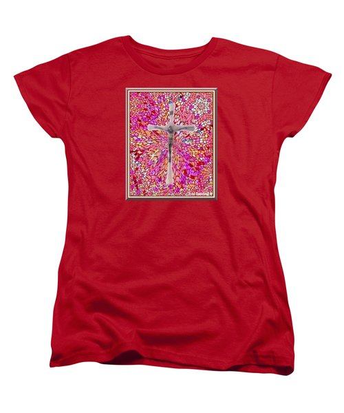 Women's T-Shirt (Standard Cut) featuring the mixed media The Perfect Sacrifice  by Ray Tapajna