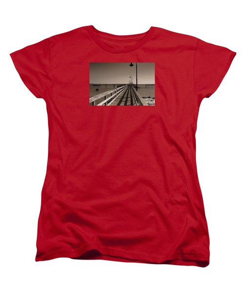 Women's T-Shirt (Standard Cut) featuring the photograph The Pier by David Jackson