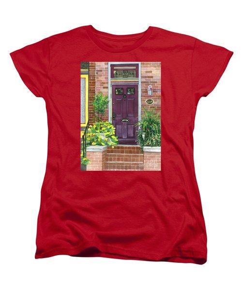 The Purple Door Women's T-Shirt (Standard Cut) by Barbara Jewell