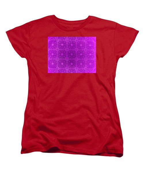 Women's T-Shirt (Standard Cut) featuring the drawing The Quantum Realm II by Jason Padgett
