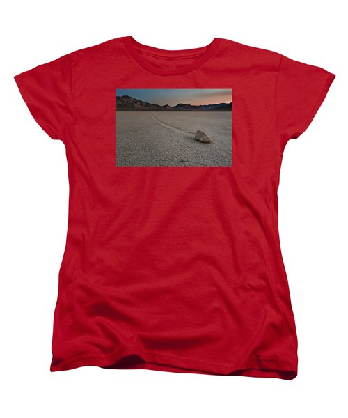 The Racetrack At Death Valley National Park Women's T-Shirt (Standard Cut) by Eduard Moldoveanu