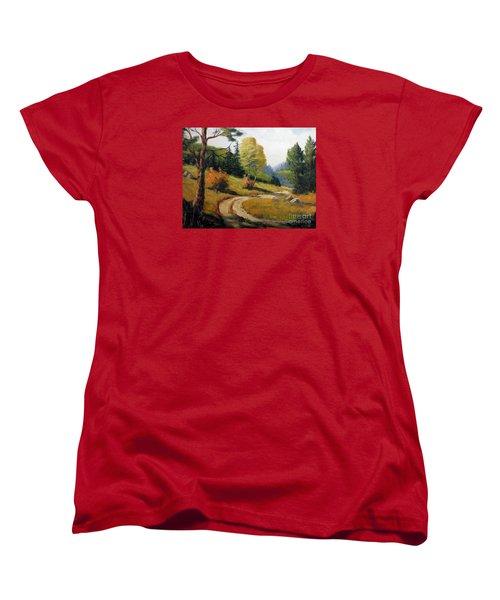 The Road Not Taken Women's T-Shirt (Standard Cut) by Lee Piper
