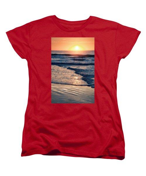 Sun Rising Over The Beach Women's T-Shirt (Standard Cut) by Vizual Studio