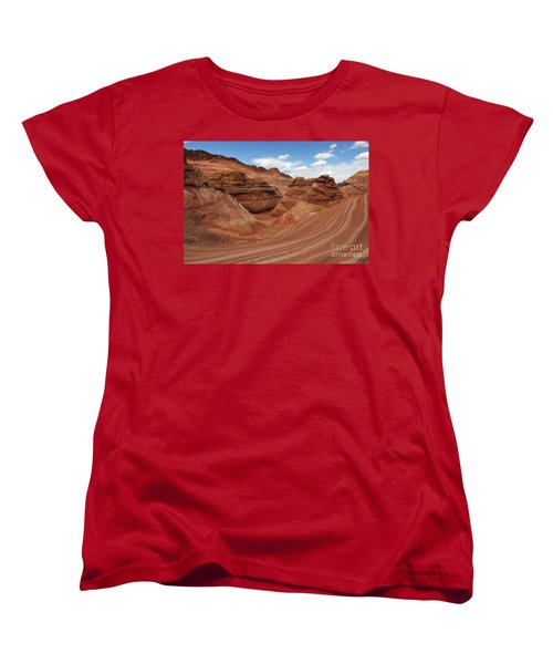 The Wave Center Of The Universe Women's T-Shirt (Standard Cut) by Bob Christopher