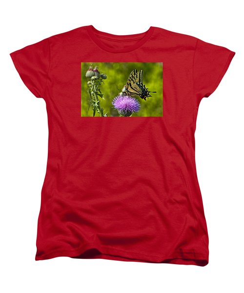 Women's T-Shirt (Standard Cut) featuring the photograph Thistle Do Just Fine by Gary Holmes
