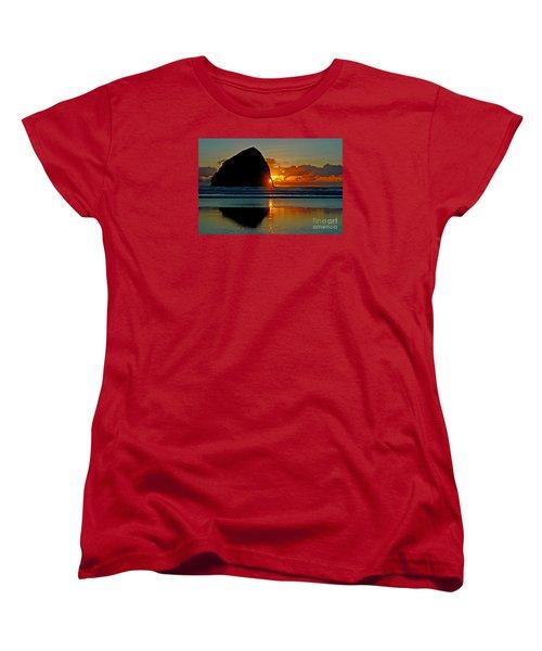 Threading The Needle Women's T-Shirt (Standard Cut) by Nick  Boren