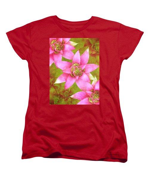 Three Pink Ladies Women's T-Shirt (Standard Cut) by Claudia Ellis