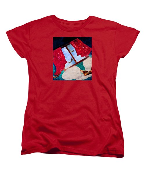 Women's T-Shirt (Standard Cut) featuring the digital art Through The Window by Janie Johnson
