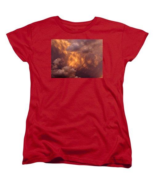 Thunder Clouds Women's T-Shirt (Standard Cut) by David Pantuso